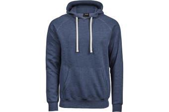 Tee Jays Mens Vintage Lightweight Hooded Sweatshirt (Denim Blue Melange) (L)