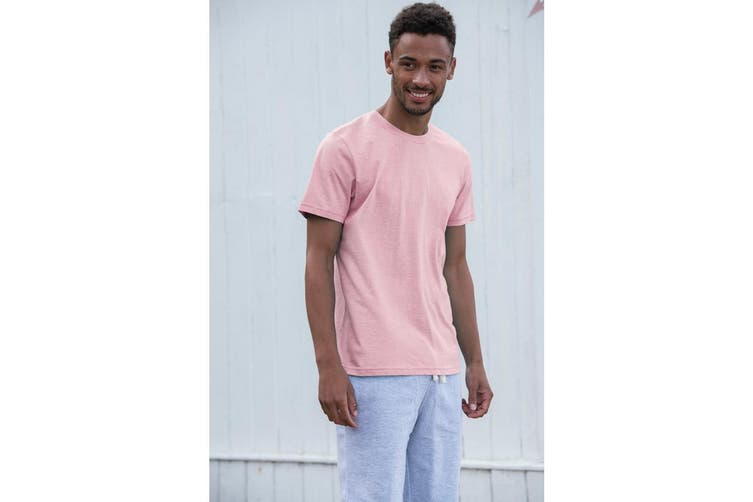 AWDis Just Ts Mens Surf T-Shirt (Surf Pink) (S)