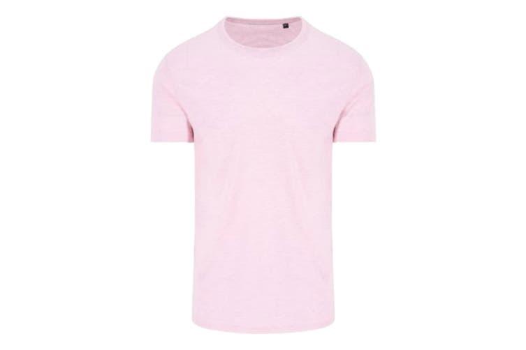 AWDis Just Ts Mens Surf T-Shirt (Surf Pink) (XXL)