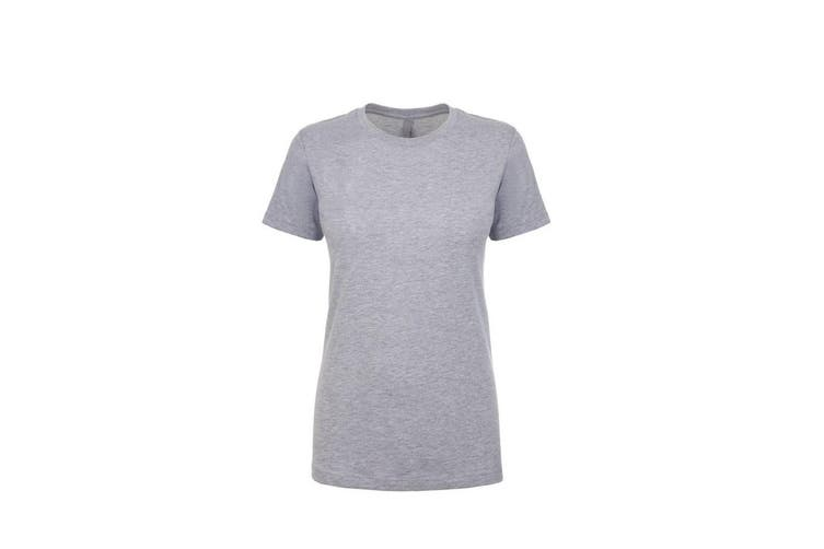 Next Level Womens/Ladies Boyfriend T-Shirt (Heather Grey) (S)