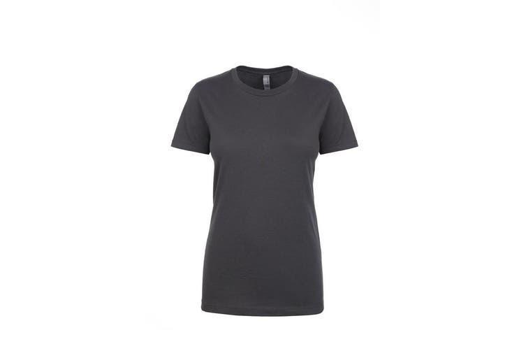 Next Level Womens/Ladies Boyfriend T-Shirt (Heavy Metal) (XL)