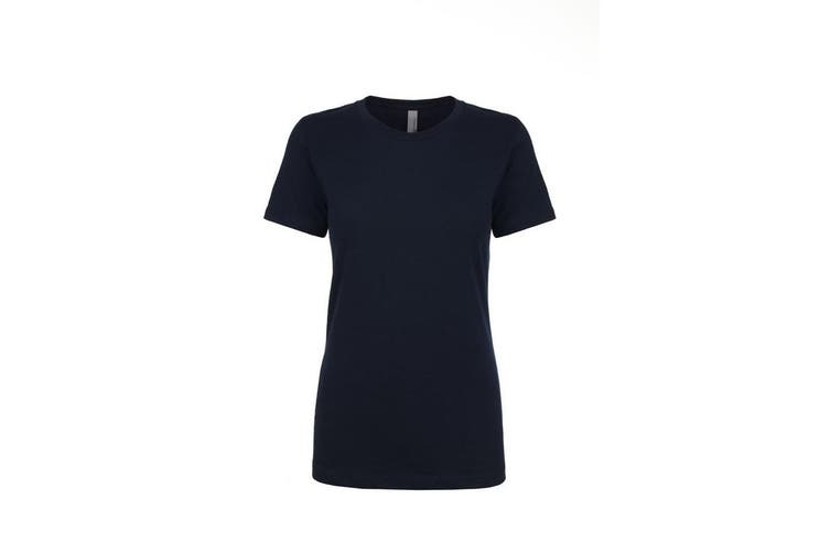 Next Level Womens/Ladies Boyfriend T-Shirt (Midnight Navy) (3XL)
