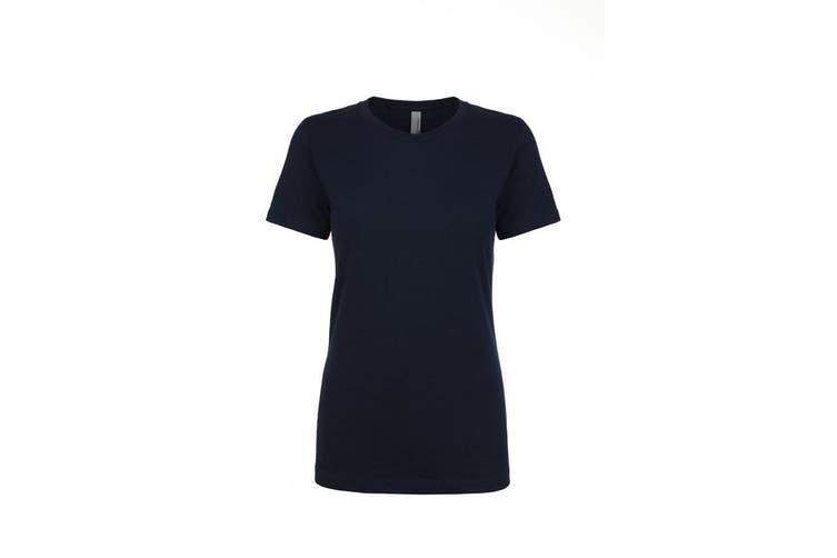 Next Level Womens/Ladies Boyfriend T-Shirt (Midnight Navy) (XXL)