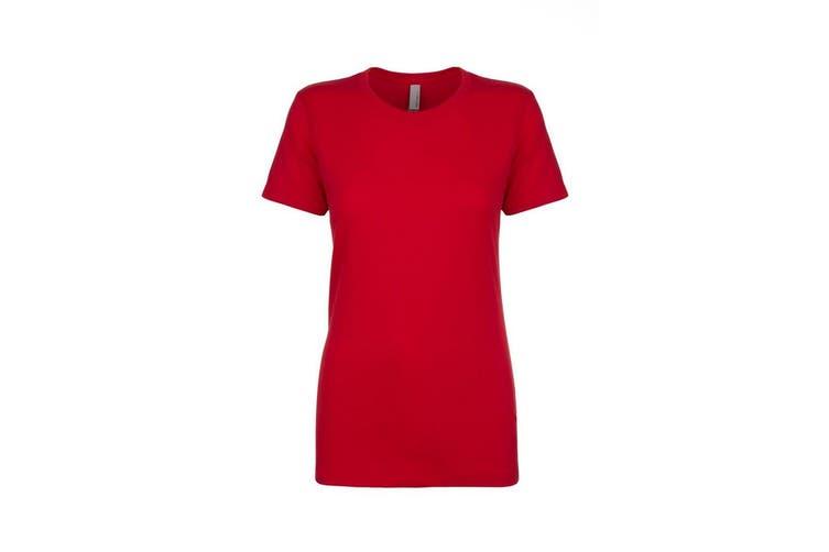 Next Level Womens/Ladies Boyfriend T-Shirt (Red) (3XL)