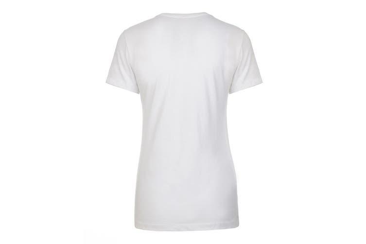 Next Level Womens/Ladies Boyfriend T-Shirt (White) (3XL)