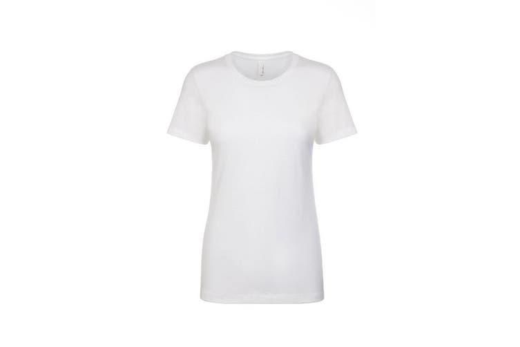 Next Level Womens/Ladies Boyfriend T-Shirt (White) (L)