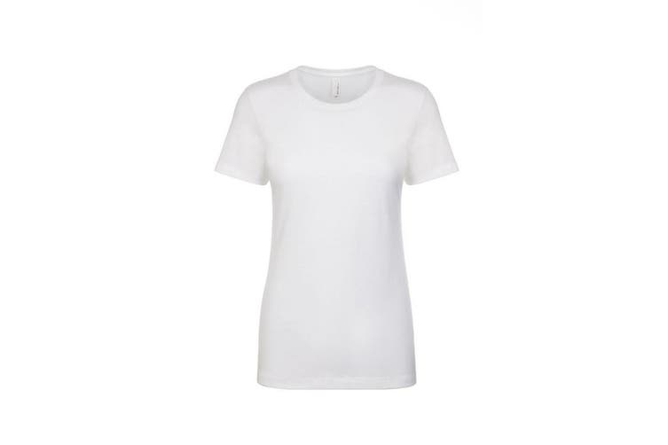 Next Level Womens/Ladies Boyfriend T-Shirt (White) (XXL)