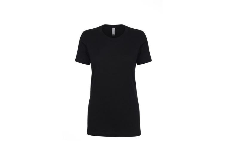 Next Level Womens/Ladies Boyfriend T-Shirt (Black) (XL)