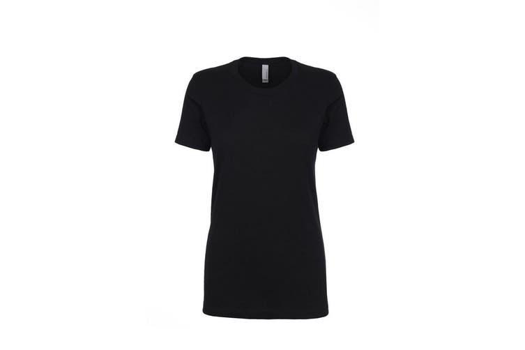 Next Level Womens/Ladies Boyfriend T-Shirt (Black) (XXL)