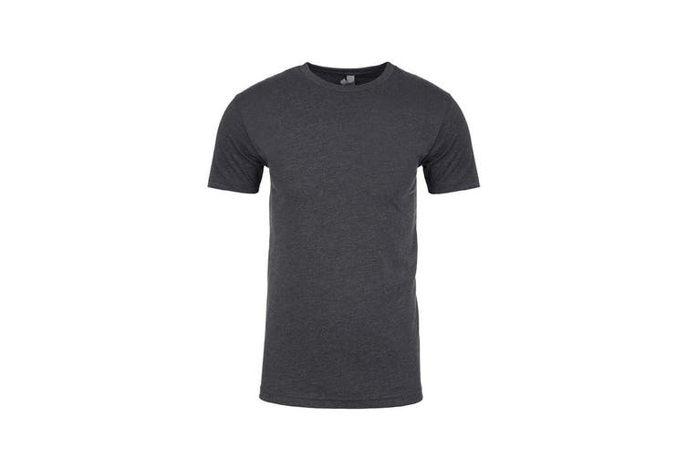Next Level Adults Unisex Suede Feel Crew Neck T-Shirt (Heather Metal) (XS)
