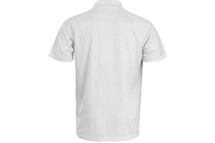 Spiro Unisex Adults Impact Performance Aircool Polo Shirt (White) (XS)