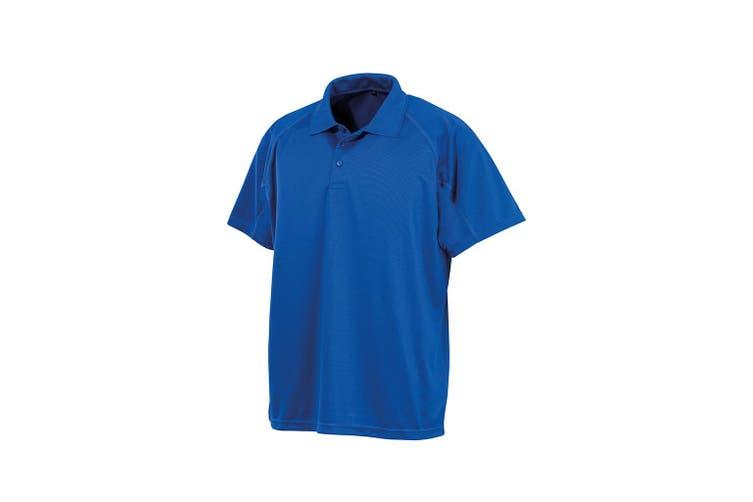 Spiro Unisex Adults Impact Performance Aircool Polo Shirt (Royal Blue) (M)