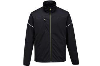 Portwest Mens PW3 Flex Shell Jacket (Black) (S)