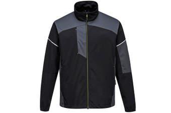Portwest Mens PW3 Flex Shell Jacket (Black/Zoom Grey) (S)