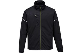 Portwest Mens PW3 Flex Shell Jacket (Black) (3XL)