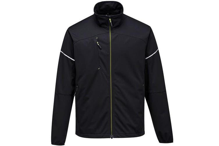 Portwest Mens PW3 Flex Shell Jacket (Black) (L)