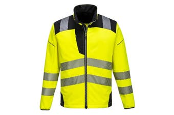 Portwest Mens PW3 Hi-Vis Soft Shell Jacket (Yellow/Black) (S)