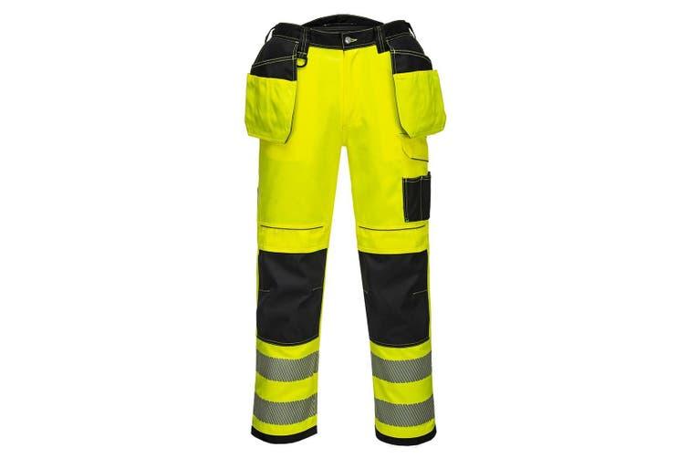 Portwest Mens PW3 Hi-Vis Trousers (Yellow/Black) (40R)