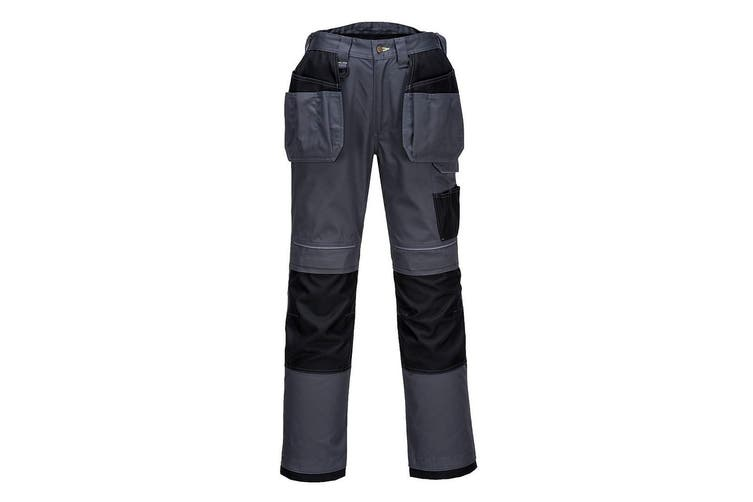 Portwest Mens PW3 Work Holster Trousers (Zoom Grey/Black) (42R)