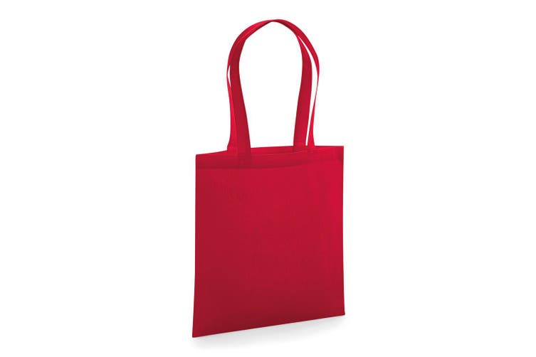 Westford Mill Organic Premium Cotton Tote Bag (Classic Red) (One Size)