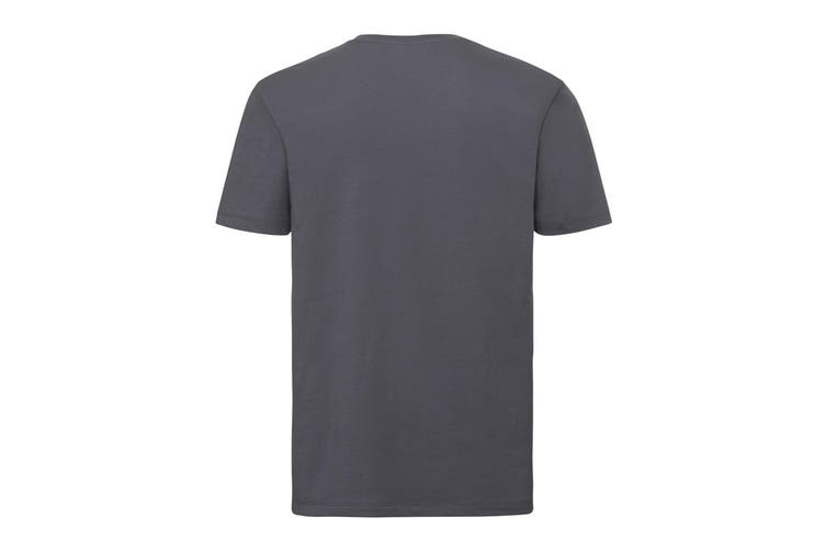 Russell Mens Authentic Pure Organic T-Shirt (Convoy Grey) (3XL)