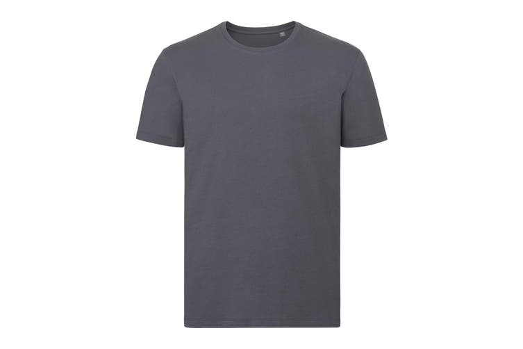 Russell Mens Authentic Pure Organic T-Shirt (Convoy Grey) (XXL)