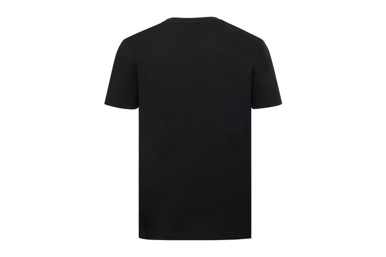 Russell Mens Authentic Pure Organic T-Shirt (Black) (XS)