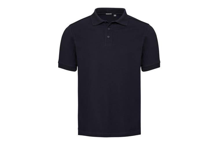Russell Mens Tailored Stretch Pique Polo Shirt (French Navy) (S)