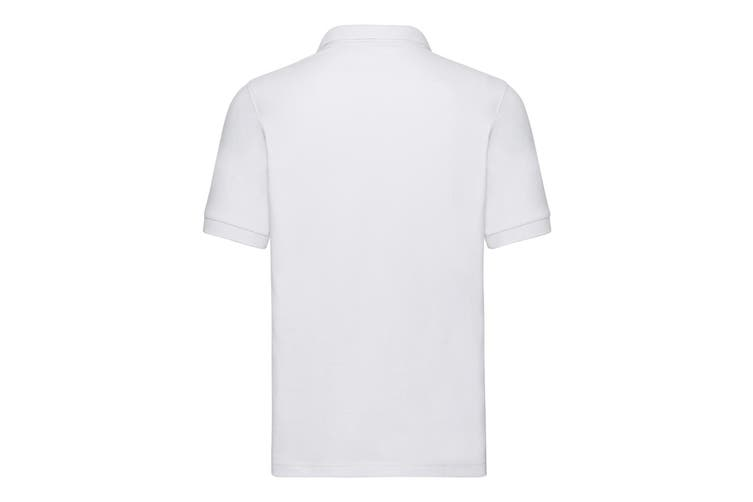 Russell Mens Tailored Stretch Pique Polo Shirt (White) (S)