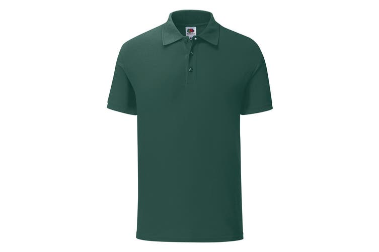 Fruit Of The Loom Mens Iconic Pique Polo Shirt (Forest Green) (3XL)