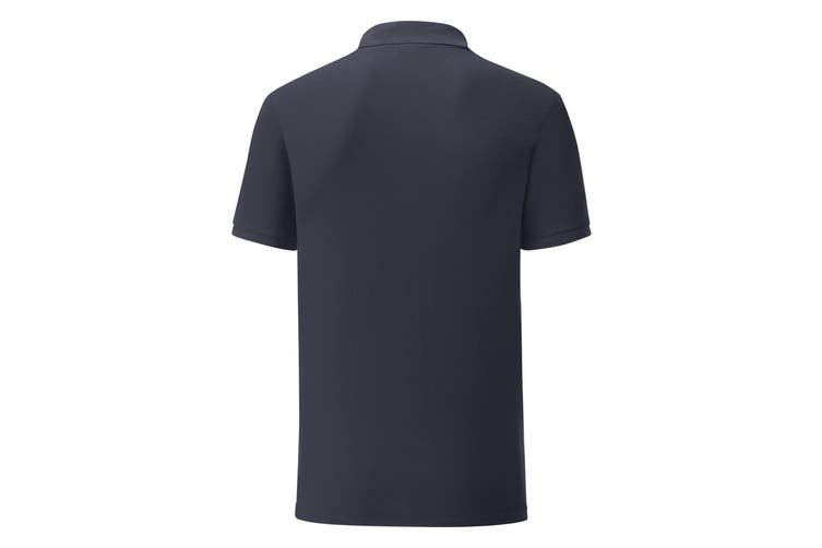 Fruit Of The Loom Mens Tailored Poly/Cotton Piqu Polo Shirt (Deep Navy) (M)