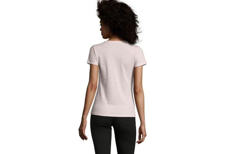 SOLS Womens/Ladies Regent Fit T-Shirt (Heather Pink) (L)