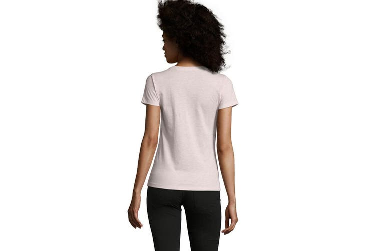 SOLS Womens/Ladies Regent Fit T-Shirt (Heather Pink) (M)