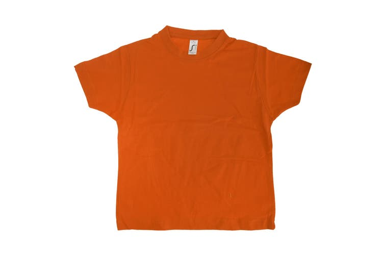 SOLS Kids Unisex Imperial Heavy Cotton Short Sleeve T-Shirt (Orange) (12yrs)