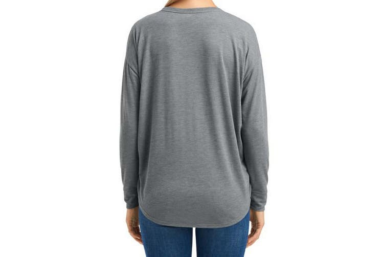 Anvil Womens/Ladies Freedom Long Sleeve T-Shirt (Heather Graphite) (XS)