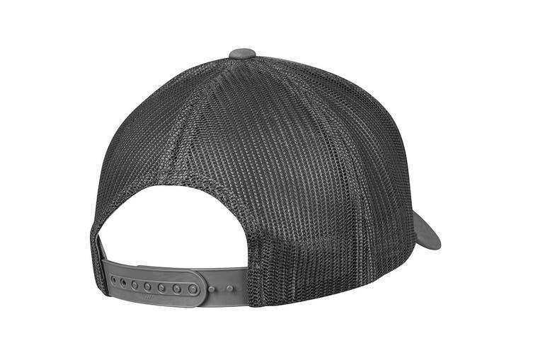 Flexfit Unisex Retro Trucker Cap (Dark Grey) (One Size)