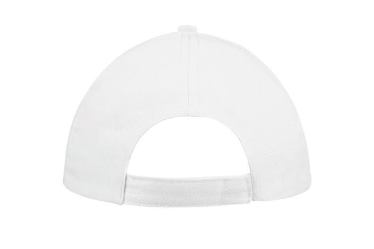 SOLS Unisex Buzz 5 Panel Baseball Cap (White) (ONE)