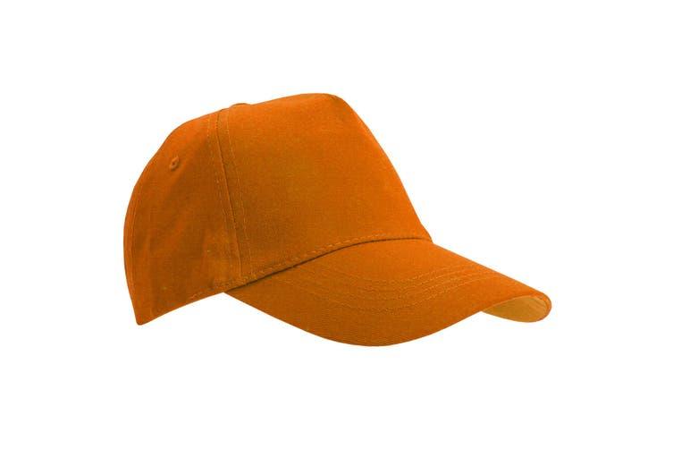 SOLS Unisex Buzz 5 Panel Baseball Cap (Orange) (ONE)
