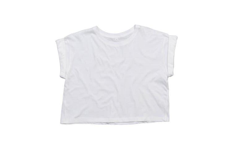 Mantis Womens/Ladies Organic Cropped T-Shirt (White) (XS)