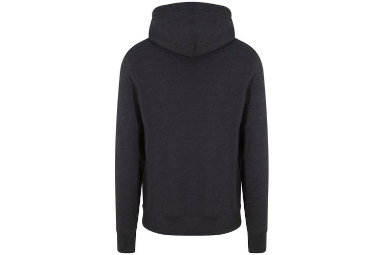 AWDis Adults Unisex Cross Neck Hoodie (Black Smoke) (S)