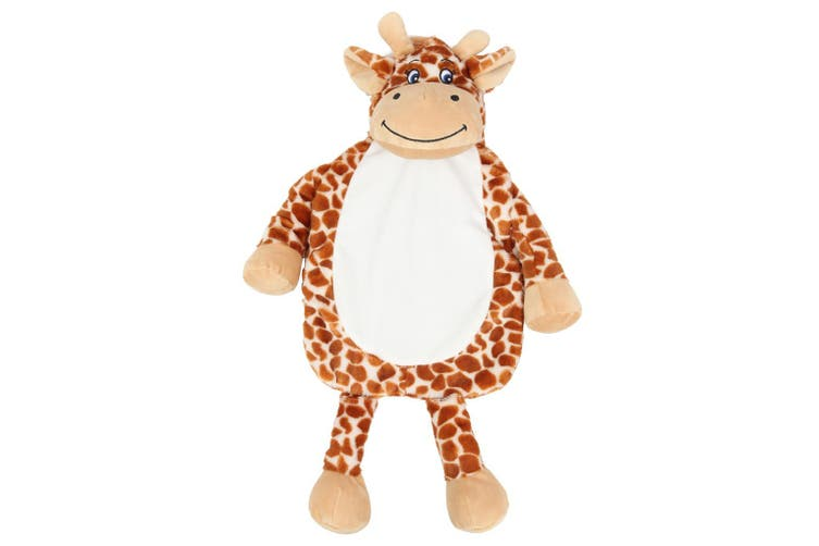 Mumbles Giraffe Hot Water Bottle Cover (Brown) (One Size)