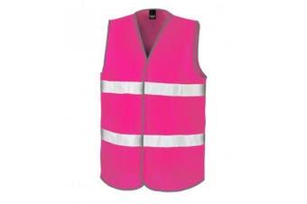 Result Adults Unisex Core Enhanced Vis Vest (Fluorescent Pink) (XS)
