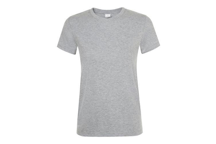 SOLS Womens/Ladies Regent Short Sleeve T-Shirt (Grey Marl) (3XL)