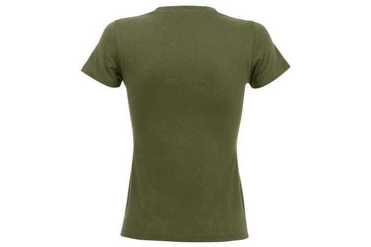 SOLS Womens/Ladies Regent Short Sleeve T-Shirt (Army) (XL)
