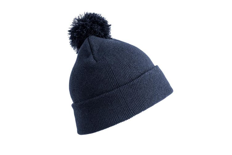 Result Core Pom Pom Beanie (Navy) (One Size)
