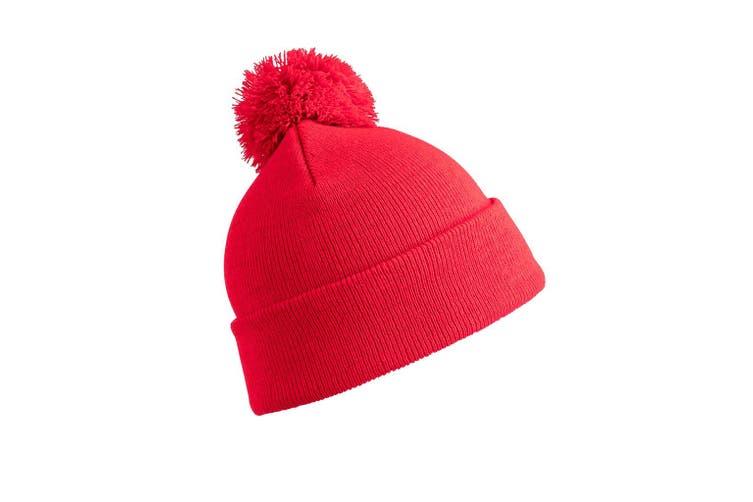 Result Core Pom Pom Beanie (Red) (One Size)