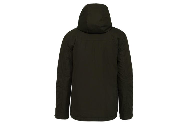 Kariban Adults Unisex Hooded Parka Jacket (Dark Khaki) (XL)