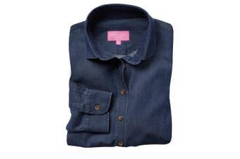 Brook Taverner Womens/Ladies Banff Long Sleeve Chambray Shirt (Denim) (14 UK)
