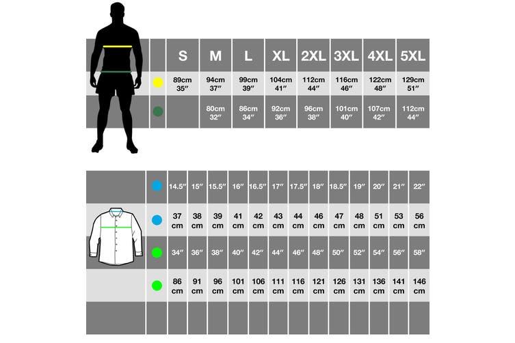 Premier Mens Maxton Check Long Sleeve Shirt (Silver/White) (XL)