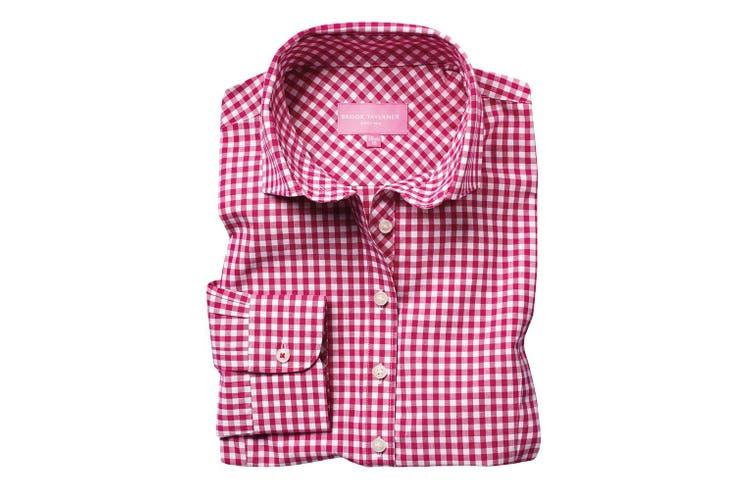 Brook Taverner Womens/Ladies Kansas Gingham Long Sleeve Shirt (Red) (14 UK)